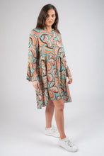 Load image into Gallery viewer, Paisley Print Wrap Dress D18C53