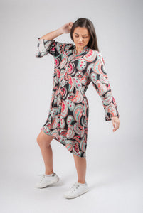 Paisley Print Wrap Dress D18C53