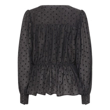 Load image into Gallery viewer, A View - Liva Spot Print Blouse - Black - 1655