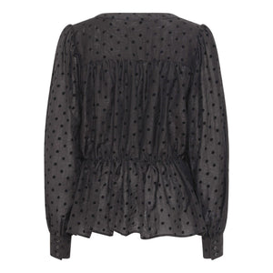 A View - Liva Spot Print Blouse - Black - 1655