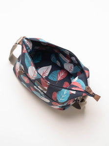 Brakeburn - Textured Leaf Hobo Bag - Navy - 6095
