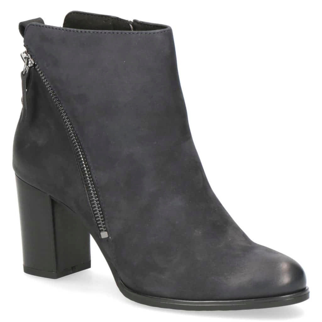 Caprice Heeled Leather Ankle Boot - 25344