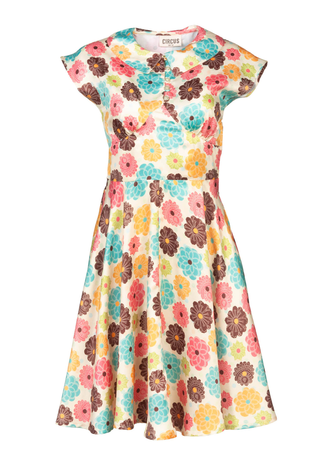 Circus – Floral Collar Dress - Lemon - CD643
