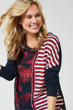 Load image into Gallery viewer, Cecil – Printed Top –  Navy - 314358