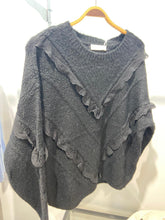 Load image into Gallery viewer, Chi Chi – Long Sleeved Lace V Knitted Jumper - Black - CH302