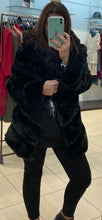 Load image into Gallery viewer, DA Fashion - Layered Fur Jacket - Black - XY80120
