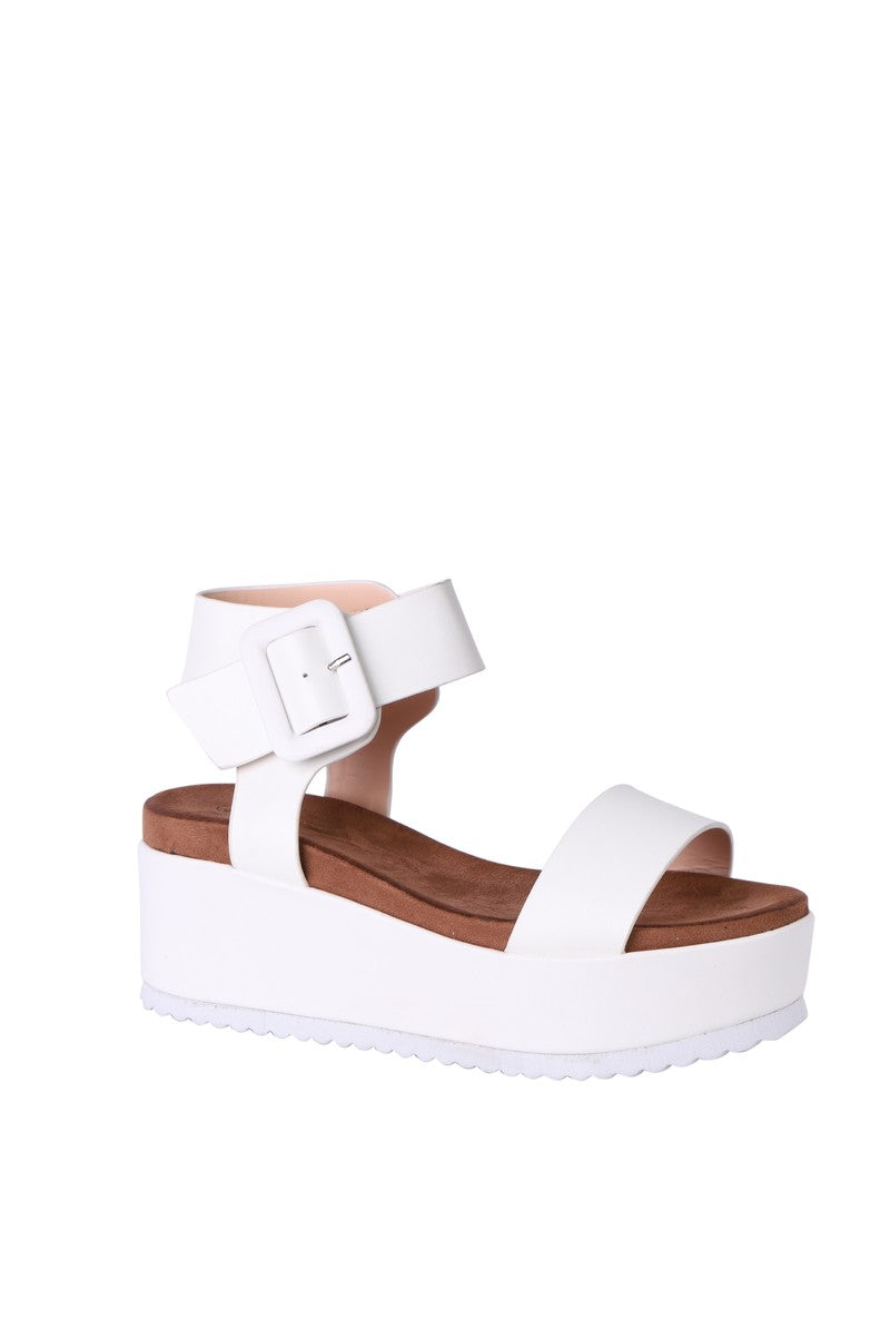 Forever Folie – Wedge Shoe – AB73 – White