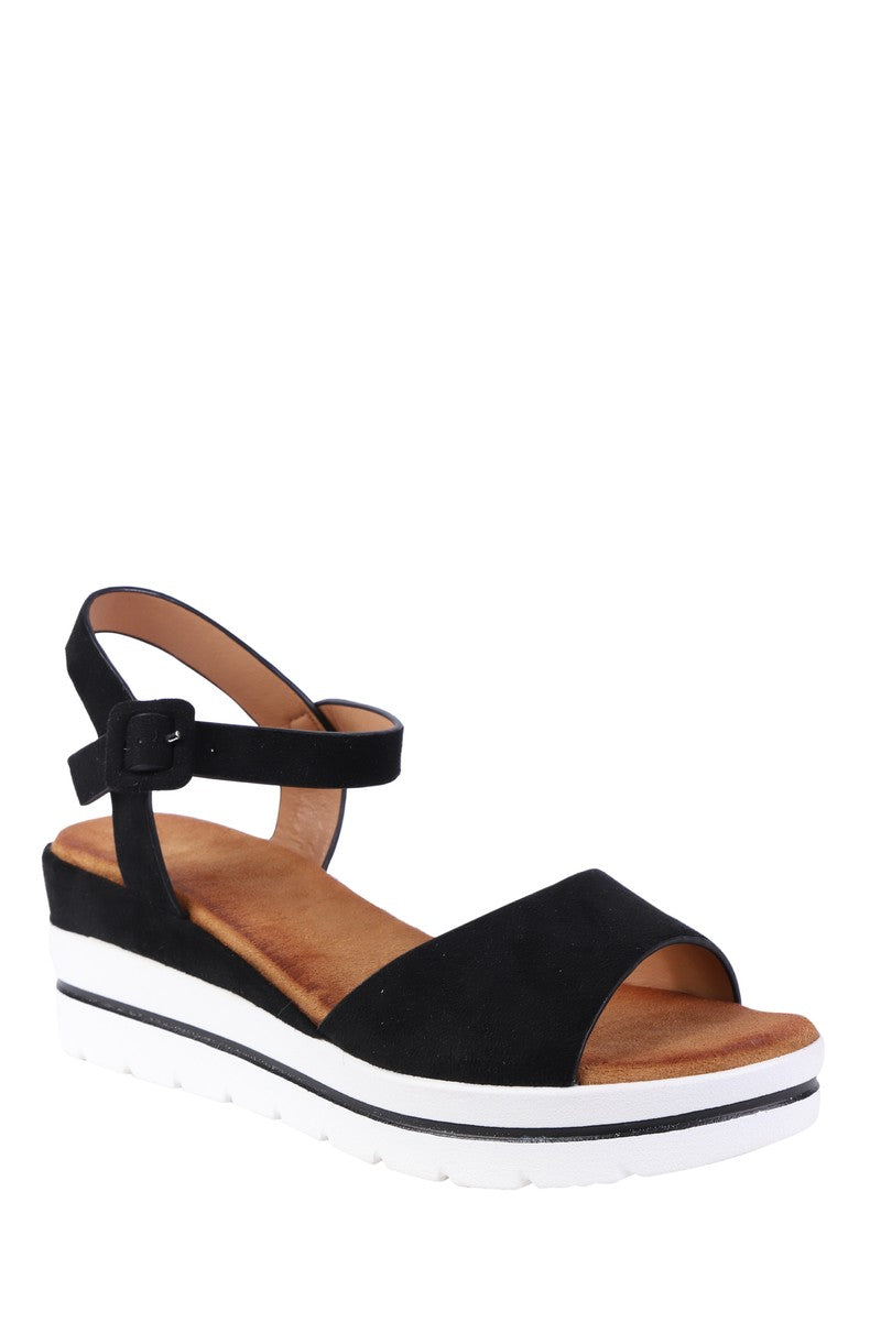 Forever Folie – Wedge Sandal – W80 – Black