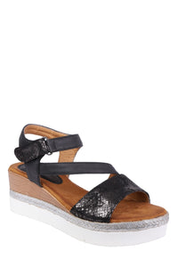 Forever Folie – Wedge Sandal – W88 – Black