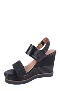 Forever Folie – Metalic High Wedge Shoe – YQ14 – Black