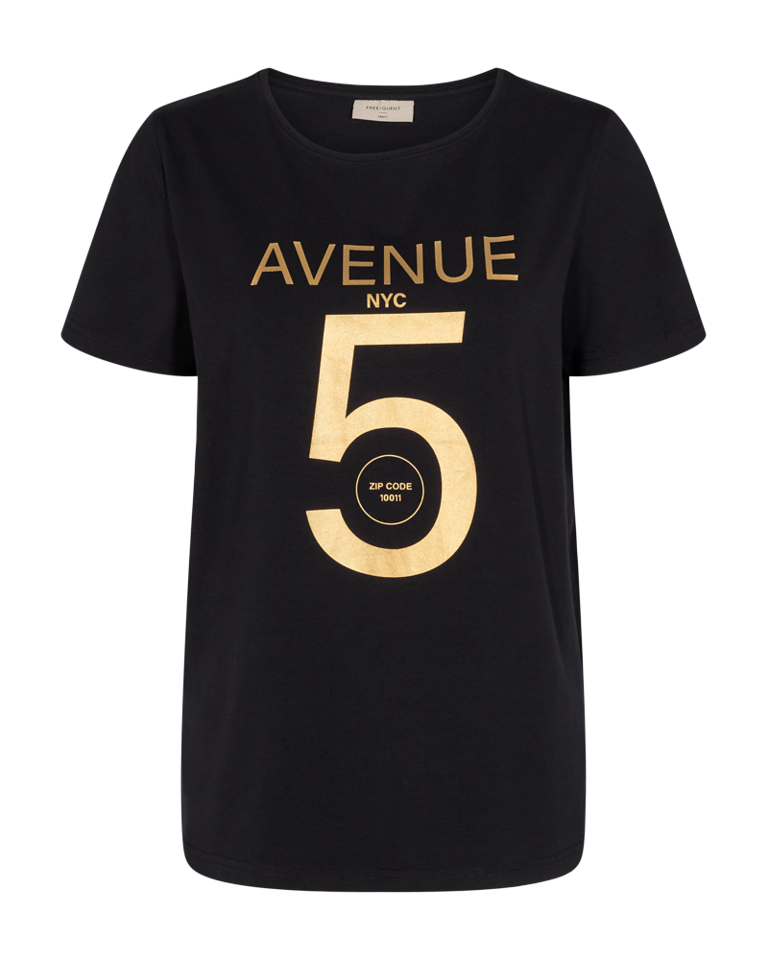 Freequent – T-Shirt - Black – Anja