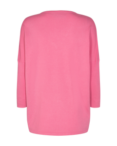 Freequent – V-Neck Knit Top - Pink – Jone-V-PU