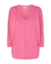 Load image into Gallery viewer, Freequent – V-Neck Knit Top - Pink – Jone-V-PU