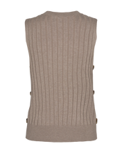 Load image into Gallery viewer, Freequent – V-Neck Gillet - Beige – Joney-WA
