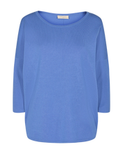 Load image into Gallery viewer, Freequent – Long Sleeved Knit Top - Blue – Jone-PU