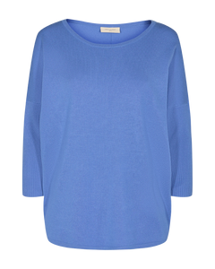 Freequent – Long Sleeved Knit Top - Blue – Jone-PU