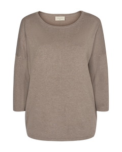 Freequent – Long Sleeved Knit Top - Beige – Jone-PU