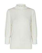 Load image into Gallery viewer, Val PU L/S Ruffle Neck Top