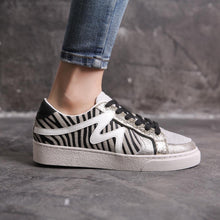 Load image into Gallery viewer, Covana – Zebra Stripe Gold Runner – FY0369 – Zebra