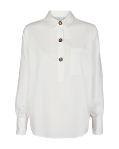 Freequent – Long Sleeved Shirt - Off-White - Flynn-SH