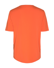 Load image into Gallery viewer, Freequent – V-Neck Short Sleeved Top - Orange - YR-SS-BL