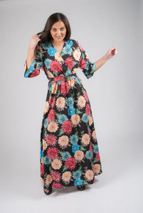 1/2 Sleeved Flower Dress 11515