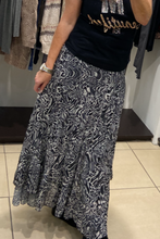 Load image into Gallery viewer, K&S Zebra Print Frill Skirt - Grey - 3960ZEB