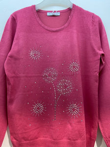 Sunco - Dandelion Embellished Jumper - Rose - 028