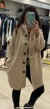 Load image into Gallery viewer, XLL - Long Button Teddy Coat - Cream - 3151