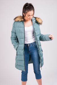 Fur Hooded Coat - 9901