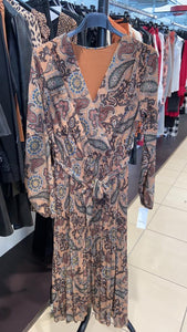 Lipstick - Paisley Print Dress - Tan - 3636PAIS