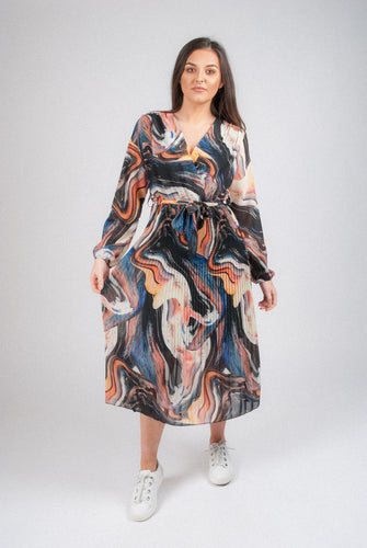 Swirl Print Midi Dress 3636SWL