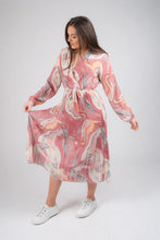 Load image into Gallery viewer, Swirl Print Midi Dress 3636SWL