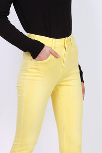 Toxik3 – High Waist Coloured Jeans - Yellow - L1700