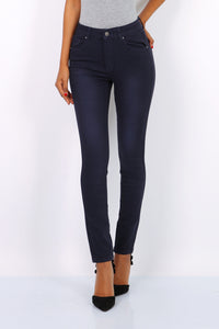 Toxik3 – High Waist Coloured Jeans - Navy - L1700