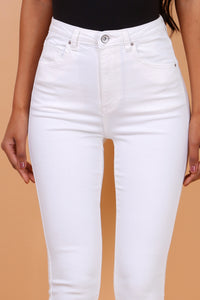 Toxik3 – High Waist Coloured Jeans - White 103 - L185