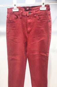 Toxik3 – High Waist Coloured Jeans - Red - L185