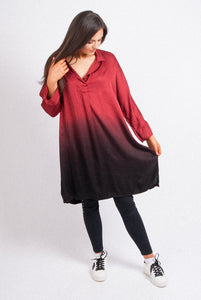 Lipstick - Two Tone Blouse - Various Colours - 71431
