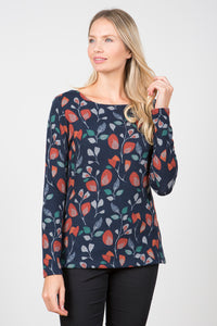 Lily & Me - Angela Top - Navy - 8096