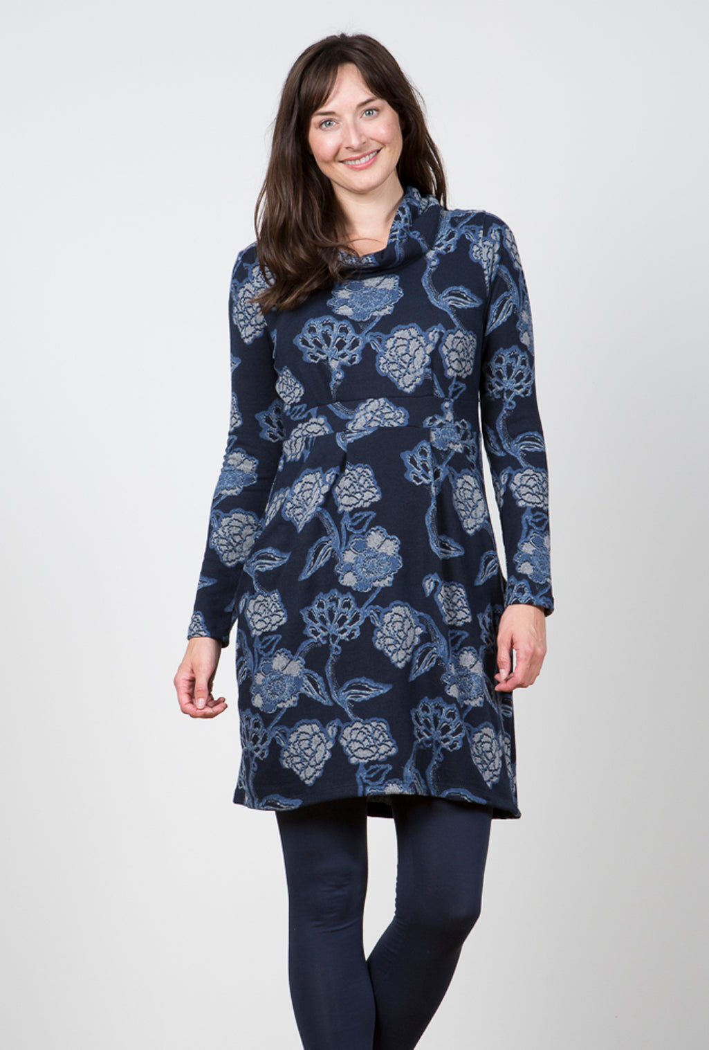 Lily & Me - Cowl 2 Pocket Dee Dress - Navy - 8104