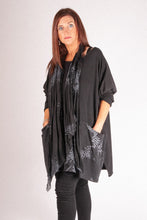 Load image into Gallery viewer, M1 Scarf Set Top - Black - 2039