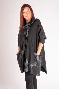 M1 Scarf Set Top - Black - 2039