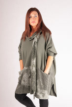 Load image into Gallery viewer, M1 Scarf Set Top - Khaki - 2039