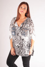 Load image into Gallery viewer, M1 Chiffon Blouse - Black - 6882