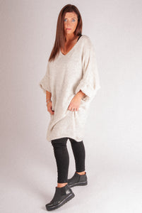Iris - Long Knit - Cream - RS6820