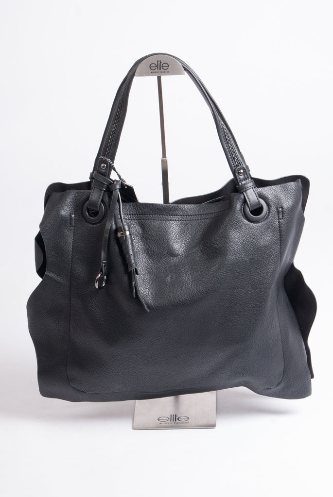 Maria C - Large Tote Handbag – Black - 678