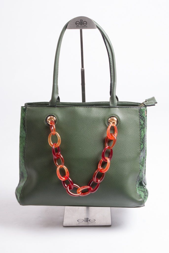 Maria C – Chain Handbag – Green - 939