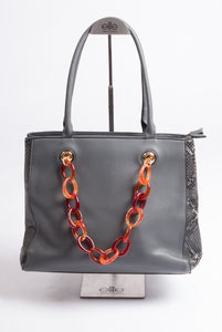 Maria C – Chain Handbag – Grey - 939