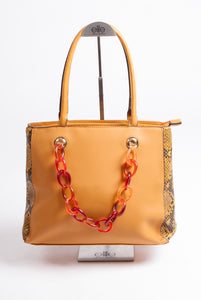 Maria C – Chain Handbag – Yellow - 939