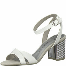 Load image into Gallery viewer, Marco Tozzi - White Heeled Sandal 28313